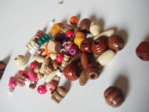 Perles en bois