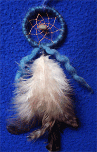 Dreamcactcher pendentif : variation bleue