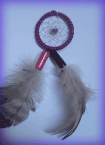 Dreamcatcher pendentif : Rose & violet