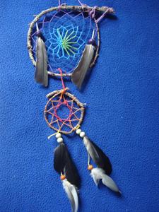 Dreamcatcher ensemble : bleuté et rouge