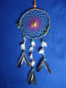 Dreamcatcher grand : Gemme et couleurs