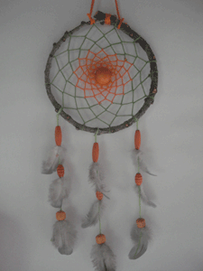 Dreamcatcher moyen : vert et orange