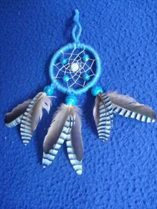 Dreamcatcher pendentif : turquoise