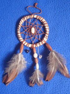 Dreamcatcher grigri : marron cuivre