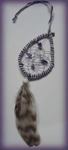 Dreamcatcher marque page : violet goutte